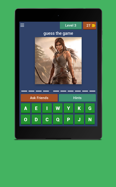 Android Guess the game Screen 2