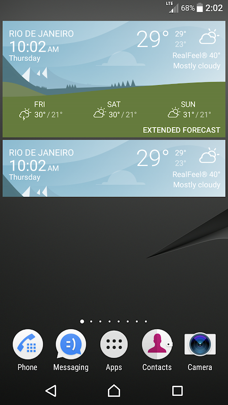 Android Sony Weather Screen 3