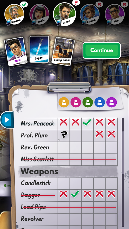 Android Cluedo Screen 3
