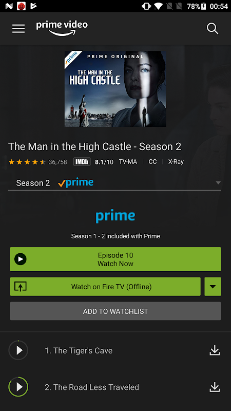 Android Amazon Prime Video Screen 2