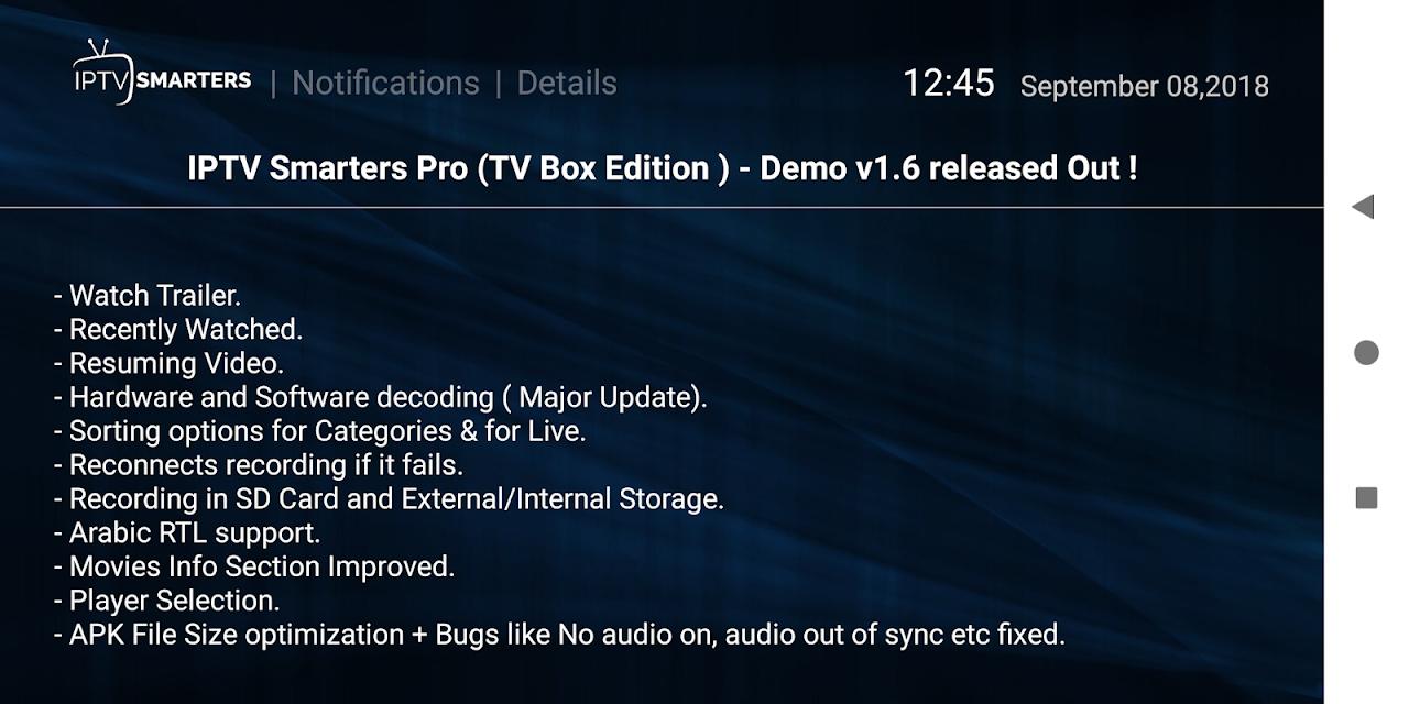 IPTV Smarters Pro 1.6.9 Screen 6