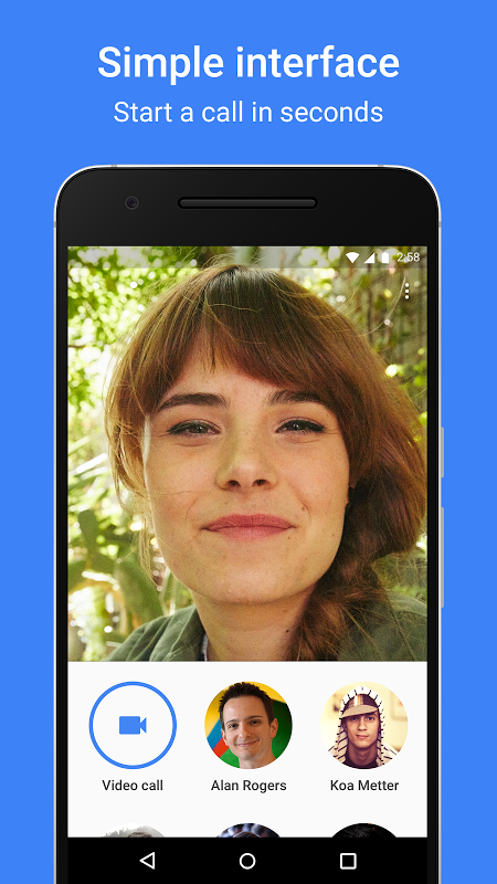 Android Google Duo Screen 1