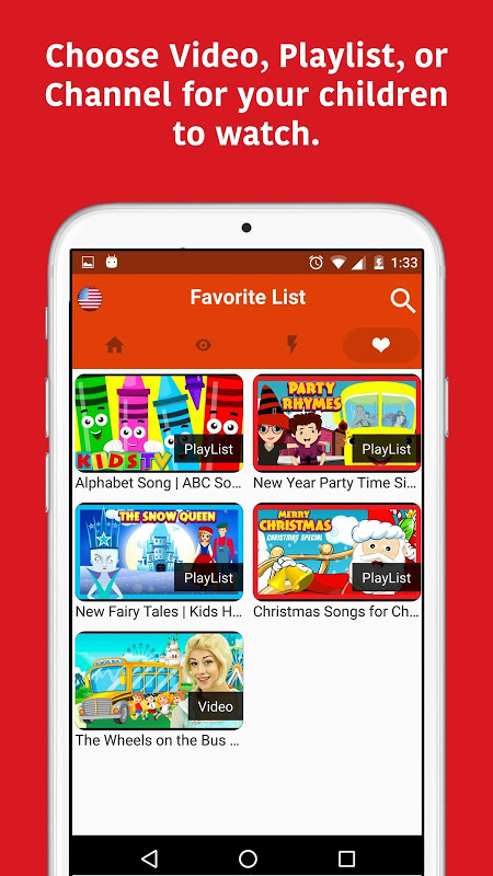 Android KidTV Screen 2