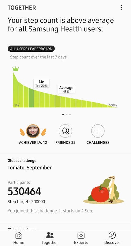 Samsung Health 6.1.2.025 Screen 1