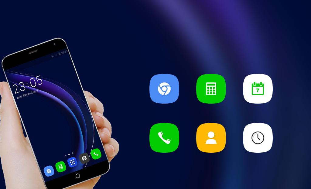 Android Theme for Huawei Honor 8/P8 HD Wallpaper Icon Pack Screen 3
