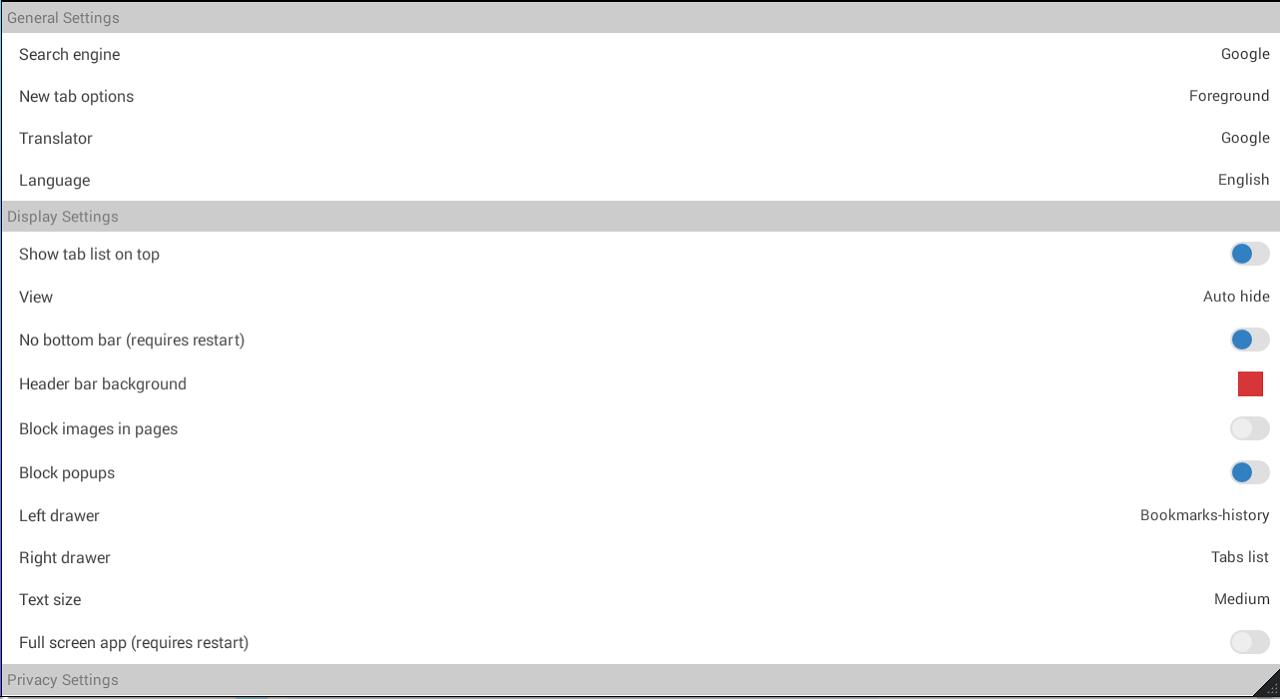 Android Aon Browser, Adblock Mini Screen 10