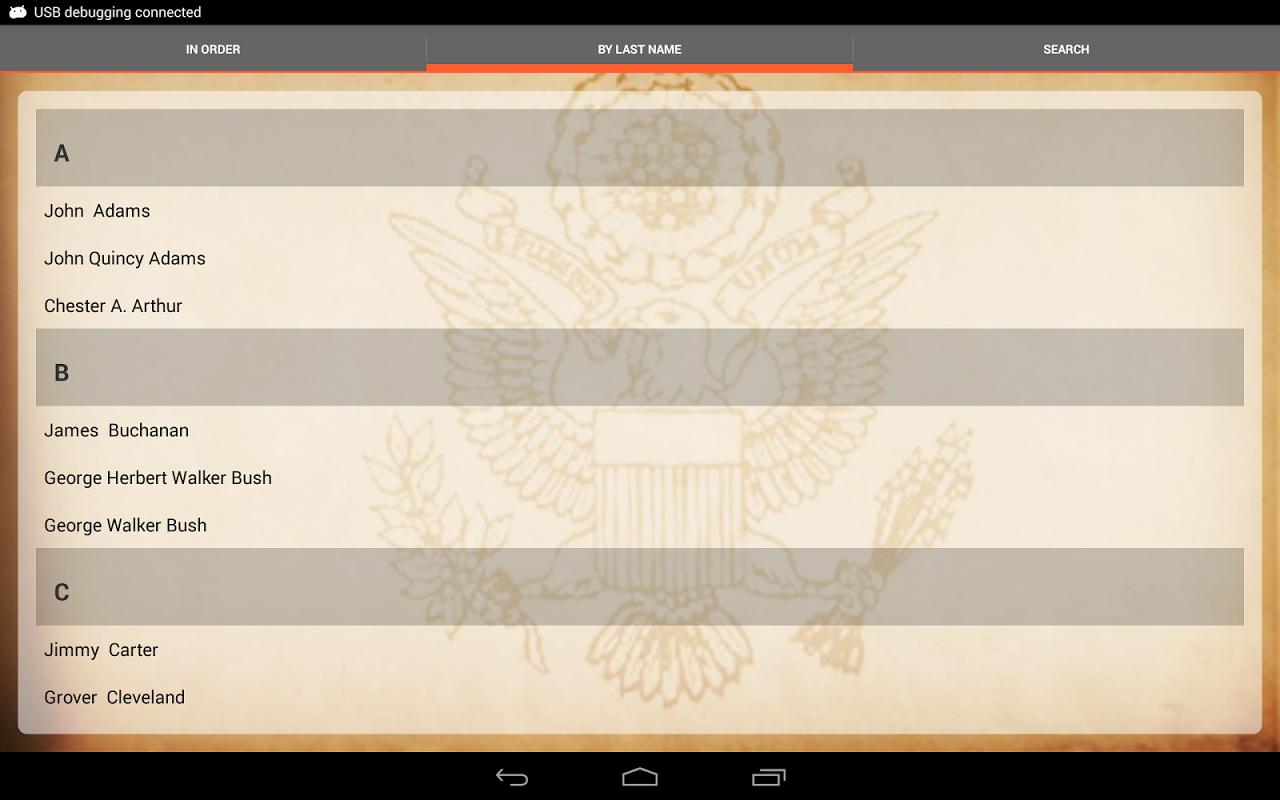 U.S. Presidents 1.8.1 Screen 5