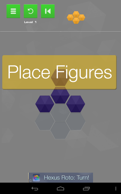 Android Hexus Puzzles Screen 1