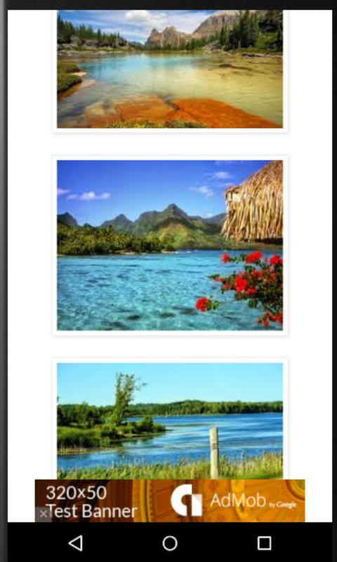 Android Beautiful Lake View Screen 2