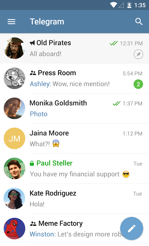 Android Telegram Screen 6