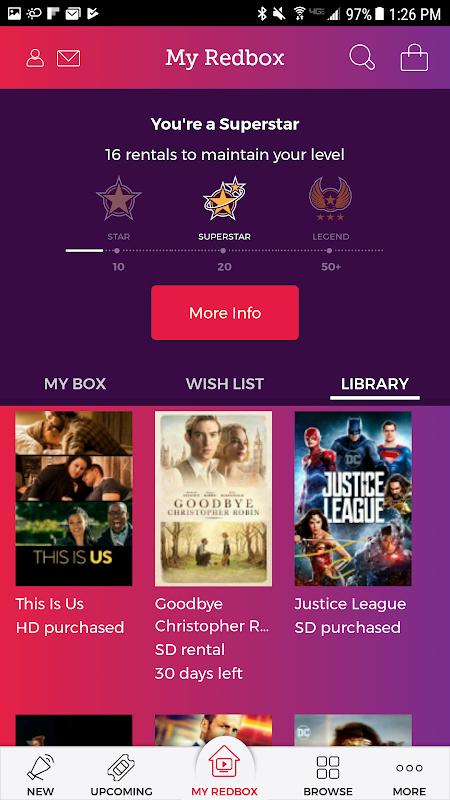 Redbox 7.5.0 Screen 1