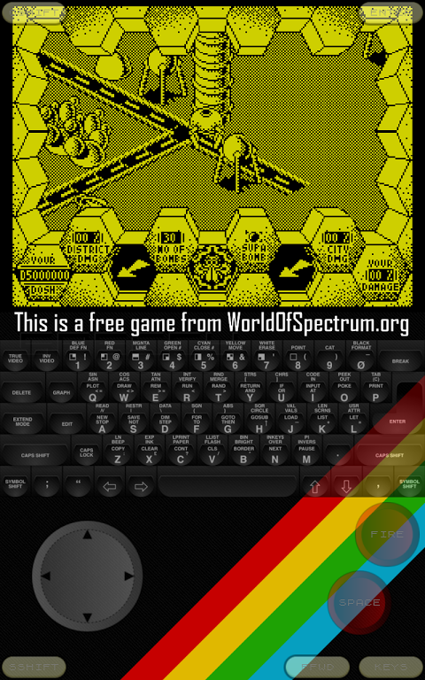 Android Speccy - ZX Spectrum Emulator Screen 2