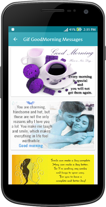 Android Gif Good Morning Messages Collection Screen 10