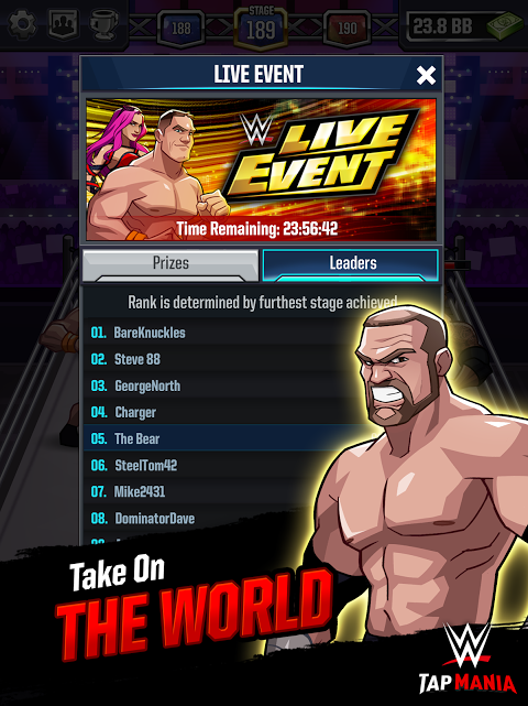 Android WWE Tap Mania Screen 9