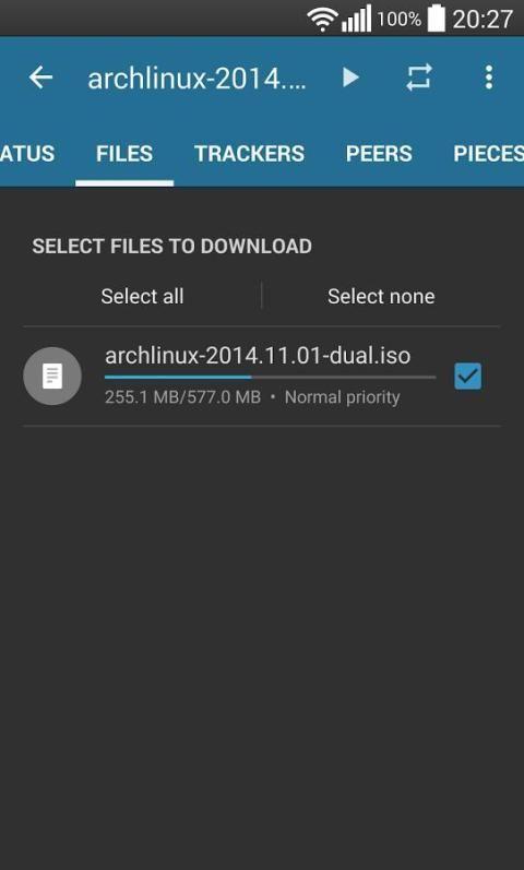 Flud - Torrent Downloader 1.4.9 Screen 4