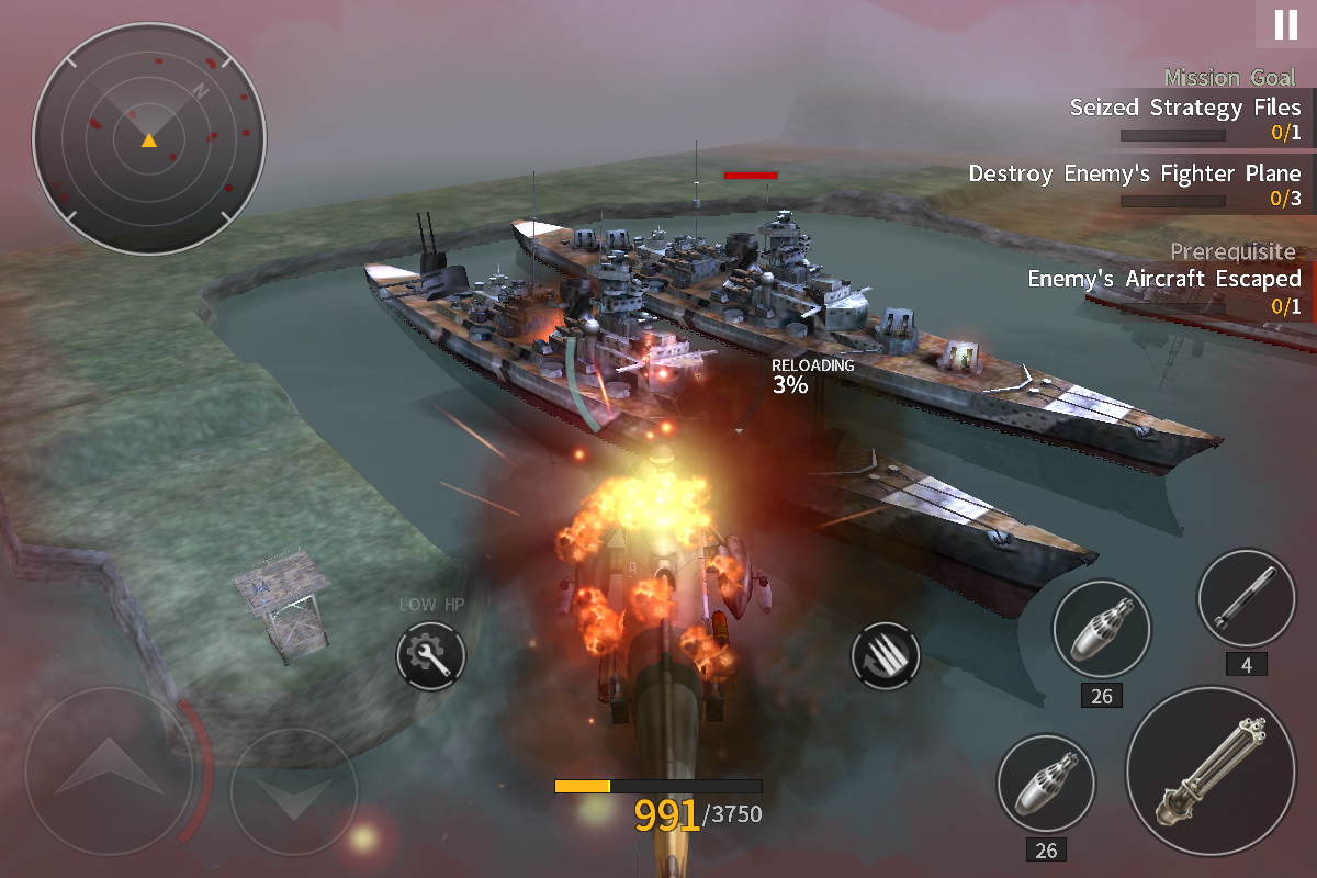 Android GUNSHIP BATTLE: SECOND WAR Screen 6