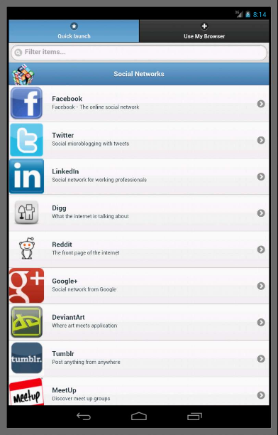 Android Social Networks Mobile Screen 3