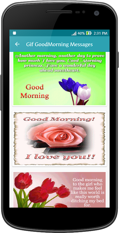 Android Gif Good Morning Messages Collection Screen 2