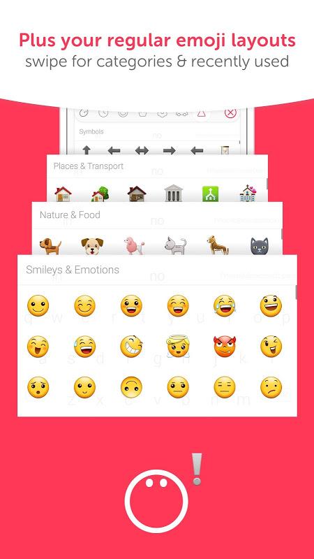 Android Swiftmoji - Emoji Keyboard Screen 5