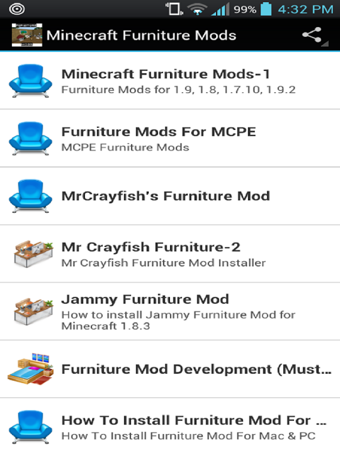 Android Furniture Mods For Minecraft Screen 16