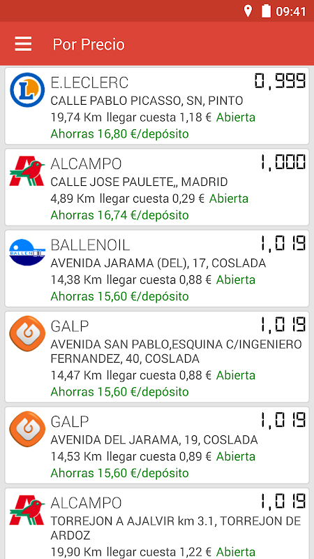 Gasolineras España 3.5.6 Screen 2