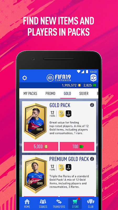 Android EA SPORTS™ FIFA 18 Companion Screen 3