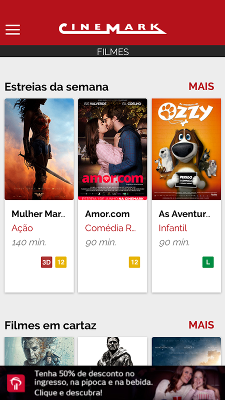 Android Cinemark Brazil Screen 1