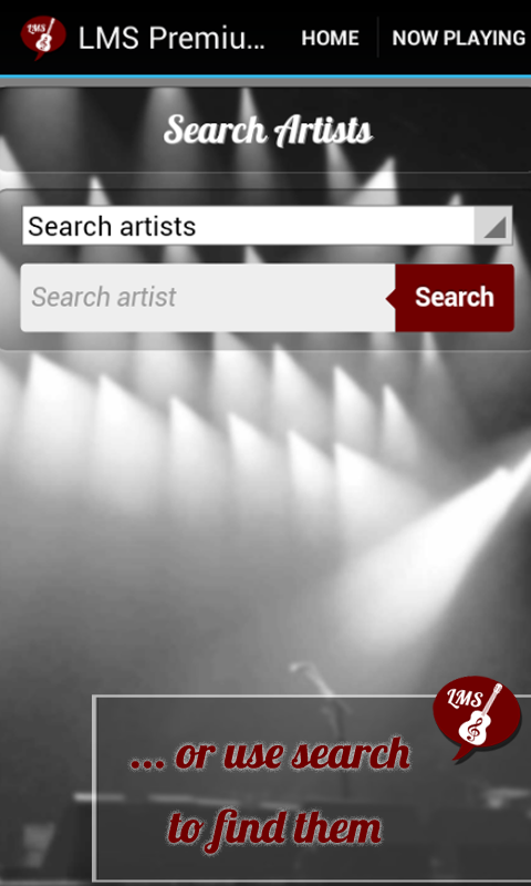 Android Live Music Streamer Screen 2