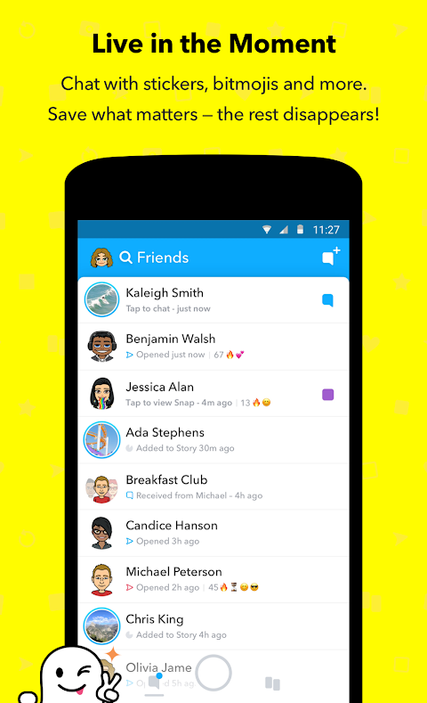Snapchat 10.39.5.0 Beta Screen 1