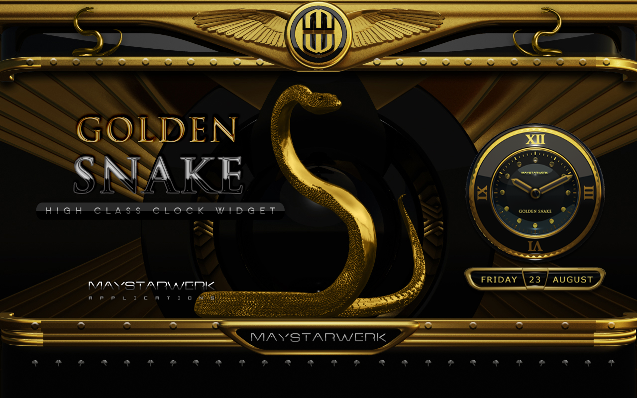 Android Gold Snake Clock widget Screen 6