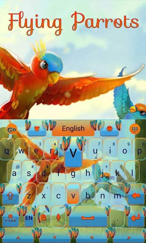 Android Flying Parrot Keyboard Theme Screen 4