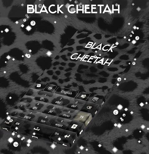 Android Black Cheetah. GO Keyboard Theme Screen 4