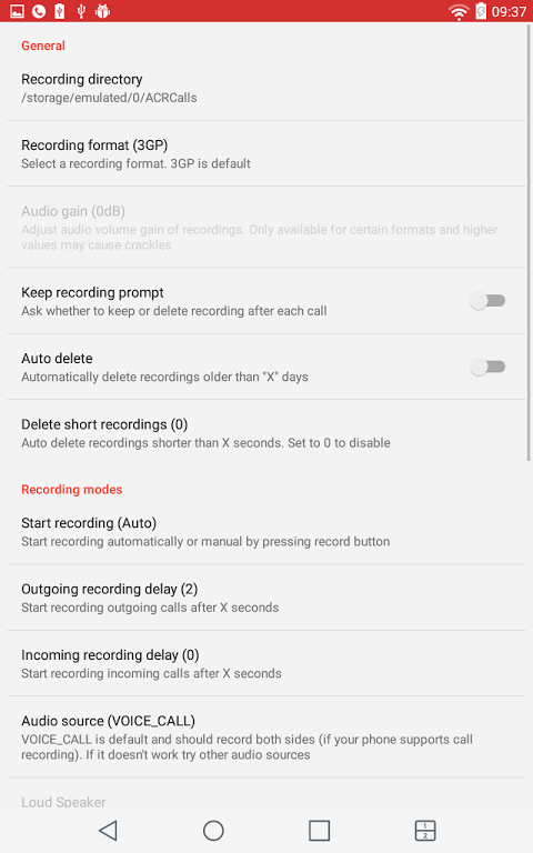 Android Call Recorder - ACR Screen 6
