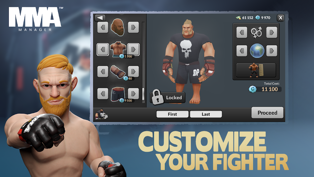 MMA Manager 0.8.4 Screen 1