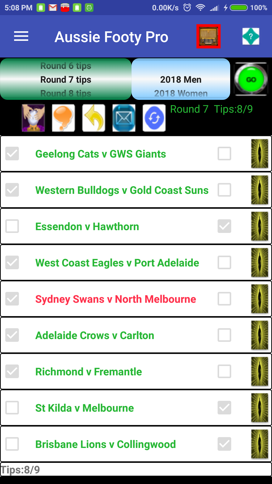 Aussie Rules Footy Predictor Plus 3.7 Screen 5