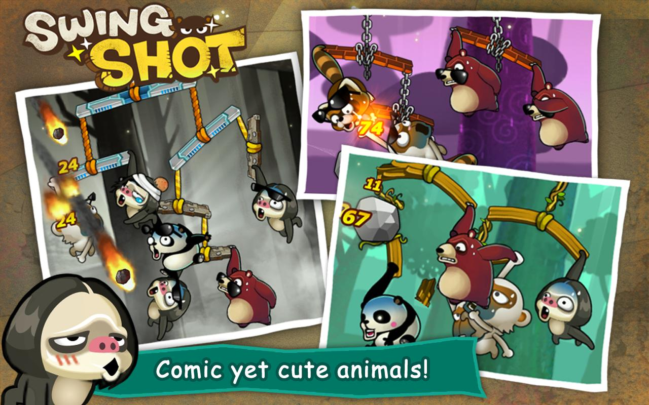 Android Swing Shot Screen 1