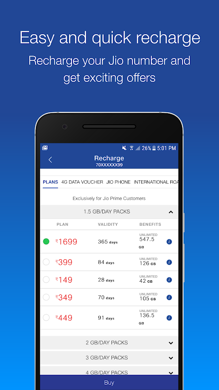 MyJio: For Everything Jio 5.0.21 Screen 2