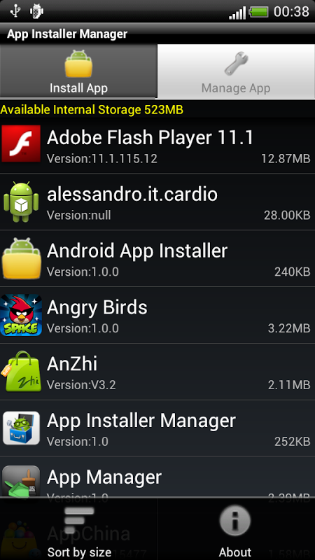 Android App Installer Manager Screen 3