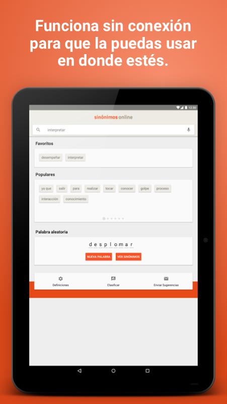 Diccionario Sinónimos Offline 2.7.0 Screen 6