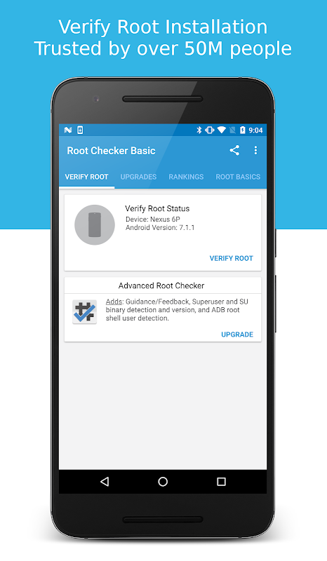Android Root Checker Screen 1