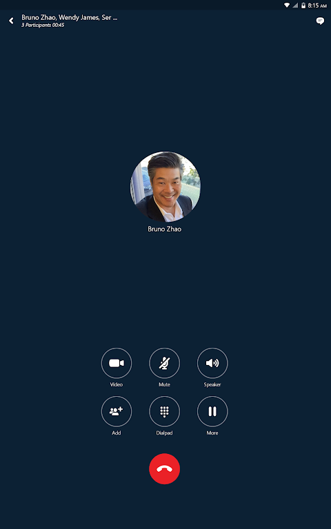 Android Skype for Business for Android Screen 6
