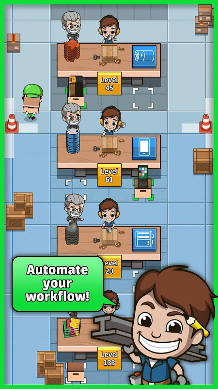 Idle Factory Tycoon 1.3.0 Screen 1