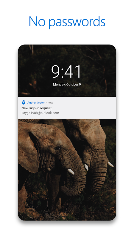 Android Microsoft Authenticator Screen 1