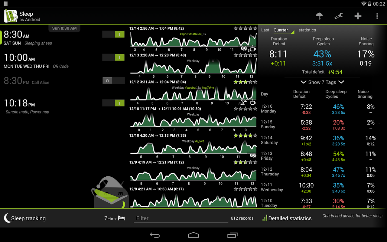 Android Sleep as Android Screen 7