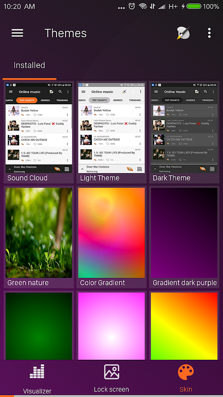 Android S+ Music Player 3D - Premium Screen 7
