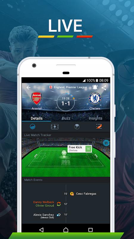 365Scores: Sports Scores Live 5.1.3 Screen 5