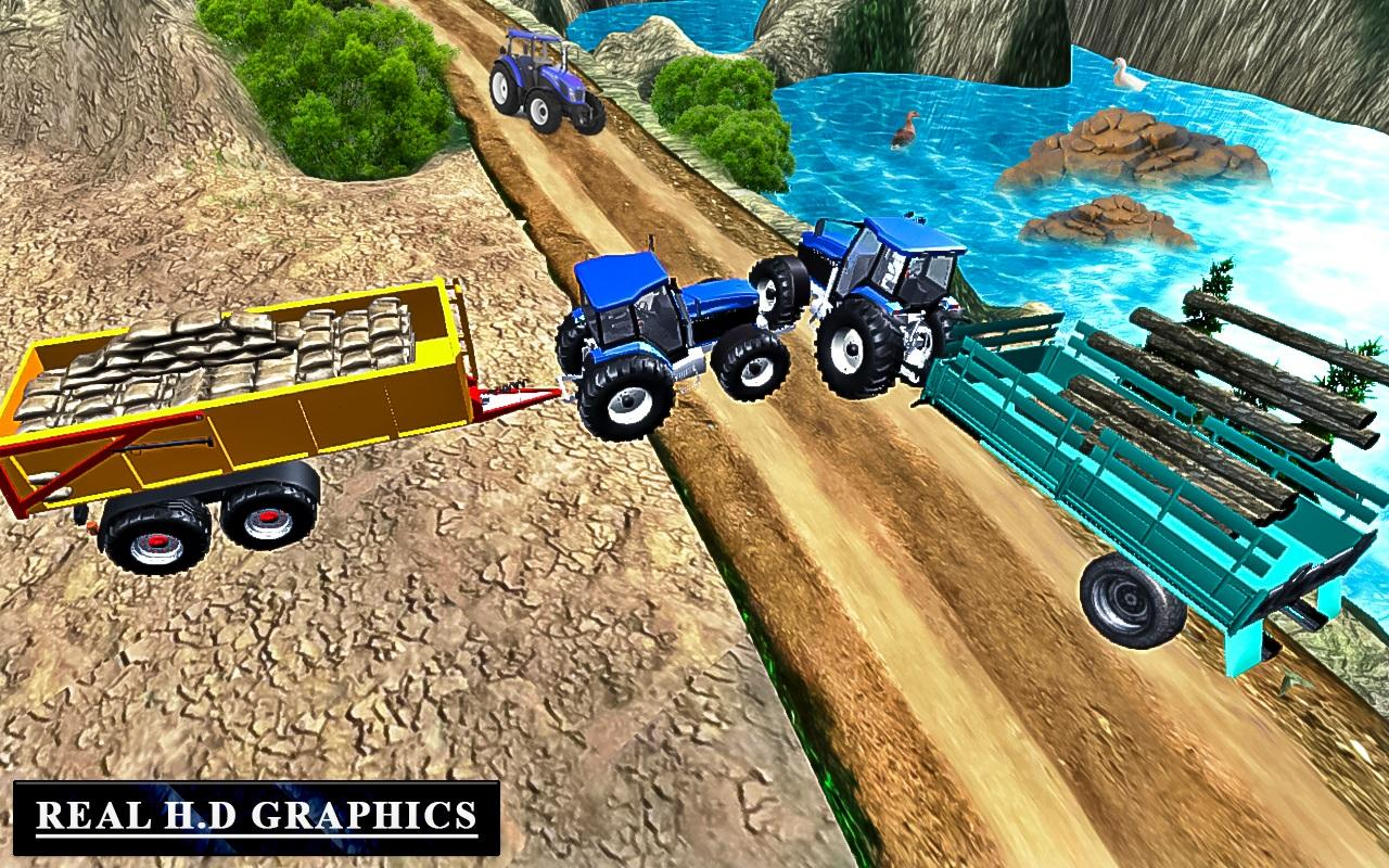 Heavy Tractor Trolley Driver Simulator Game 1.0 Screen 5