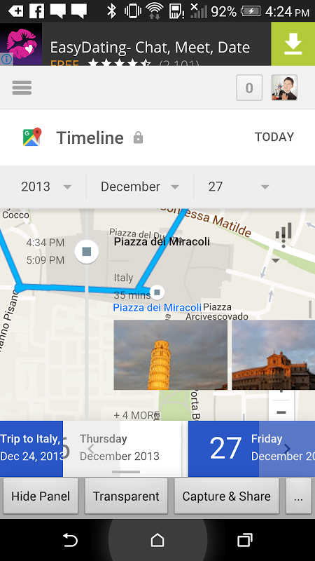 Android View Timeline (BETA) Screen 3