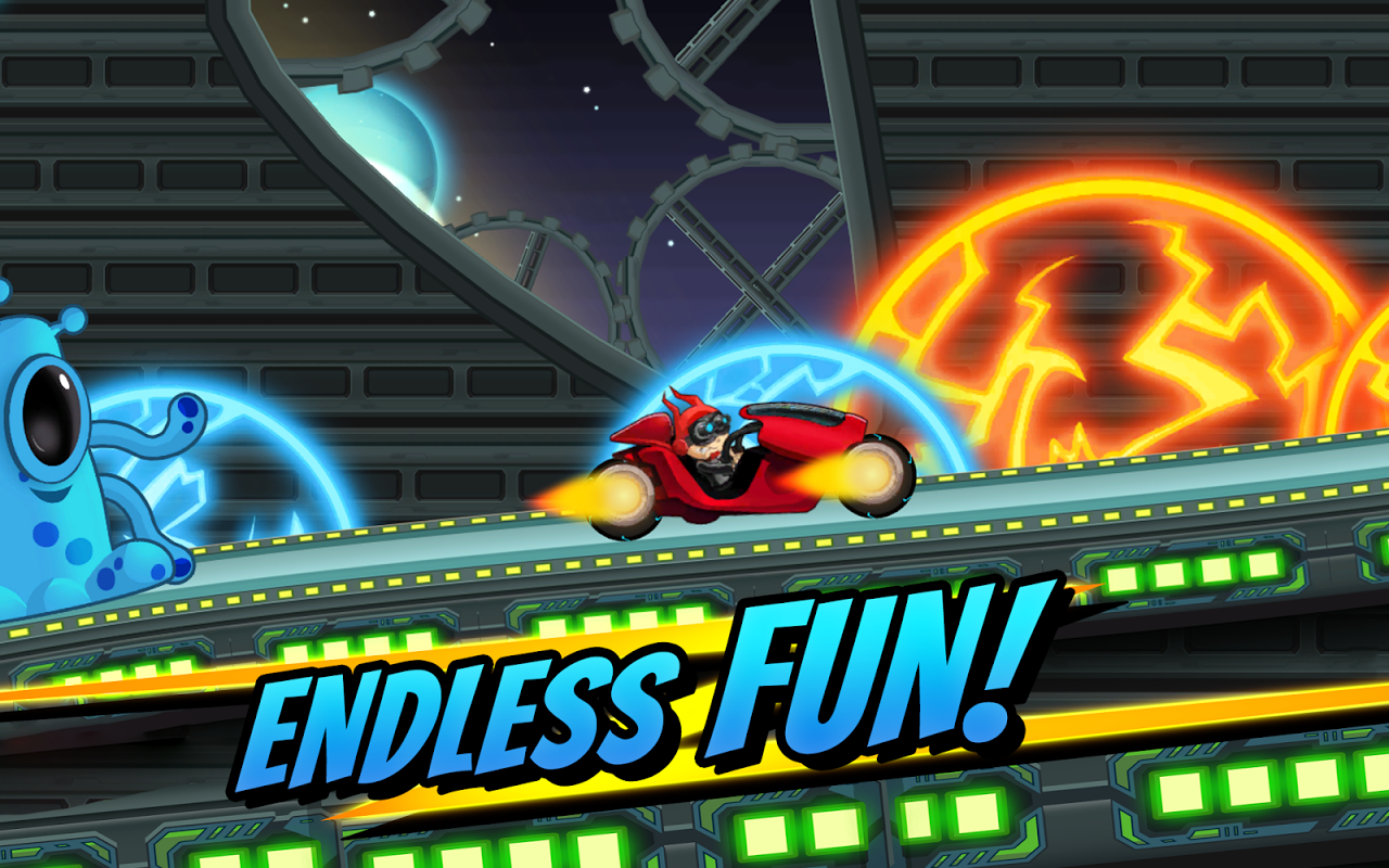 Android Superheroes Car Racing Screen 2