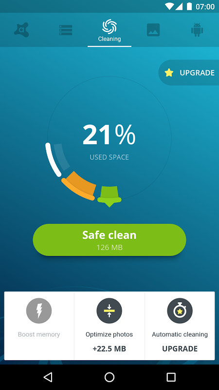 Avast Cleanup 3.0.1 Screen 1
